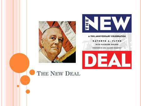 "T HE N EW D EAL. FDR – 1932 - 1945 Fireside Chats – ""The only thing we have to fear is fear itself"" Promised a ""New Deal""… RELIEF, RECOVERY and REFORM."