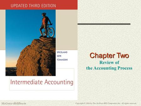 Copyright © 2004 by The McGraw-Hill Companies, Inc. All rights reserved. McGraw-Hill/Irwin Slide 2-1 Chapter Two Review of the Accounting Process.