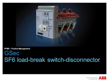 SF6 load-break switch-disconnector