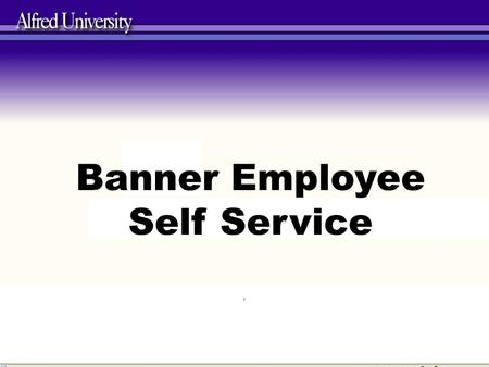 Banner Employee Self Service e. Did you know that you can view all of your Personal Information that we have on file for you in Employee Self Service?
