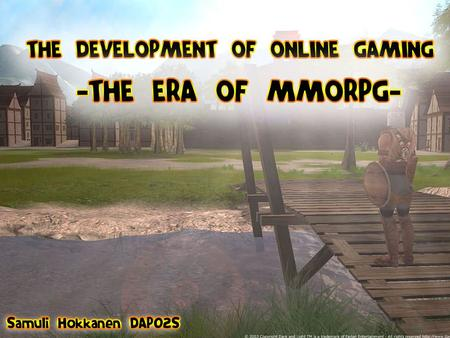 1 Online game development. 2 Outline of the presentation important terms brief history status quo of present day online gaming Case studies: Runescape.