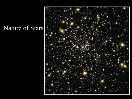 Nature of Stars. Parallax is denoted by 'p'. Distance (d) is measured in parsec. d = 1 parsec = the distance at which a star has a parallax (p)