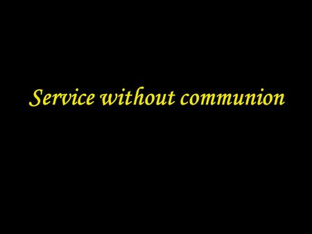 Service without communion. 2 PREPARATION IN THE NAME In the name of the Father and of the Son † and of the Holy Spirit. Amen.