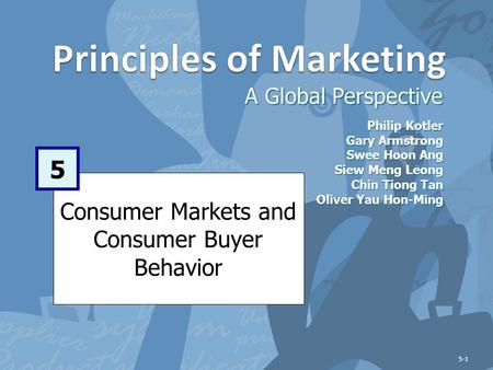 Learning Objectives After studying this chapter, you should be able to: Define the consumer market and construct a simple model of consumer buyer behavior.