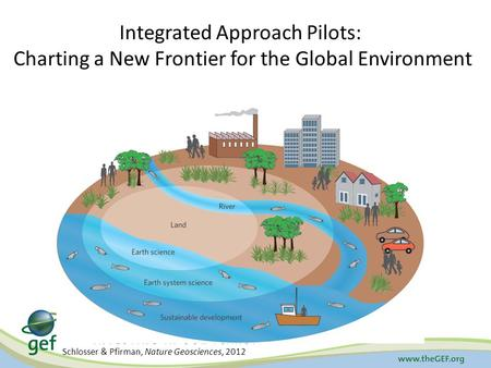 Schlosser & Pfirman, Nature Geosciences, 2012 Integrated Approach Pilots: Charting a New Frontier for the Global Environment.