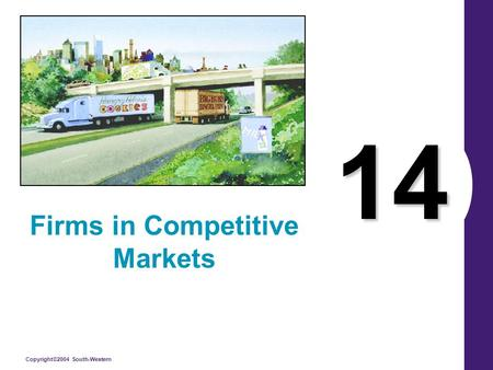 Copyright©2004 South-Western 14 Firms in Competitive Markets.