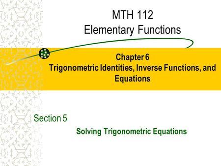 5 3 Solving Trigonometric Equations - ppt download