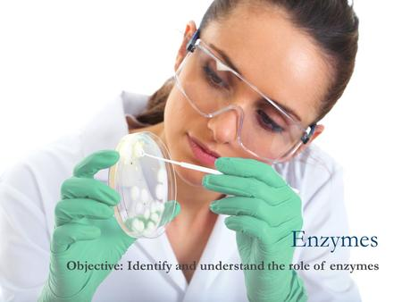 Enzymes Objective: Identify and understand the role of enzymes.