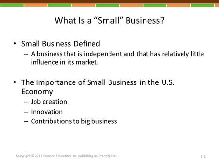 "What Is a ""Small"" Business?"