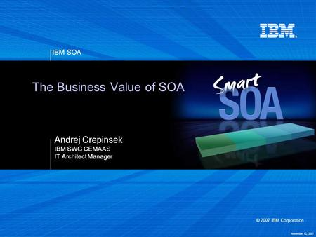 The Business Value of SOA