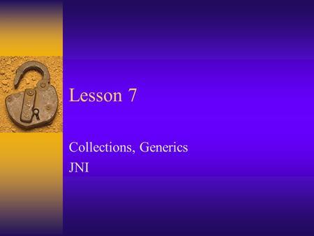 Java Native Interface (JNI)  JNI Linking Java and C code
