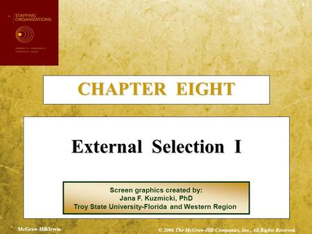 External Selection I CHAPTER EIGHT Screen graphics created by:
