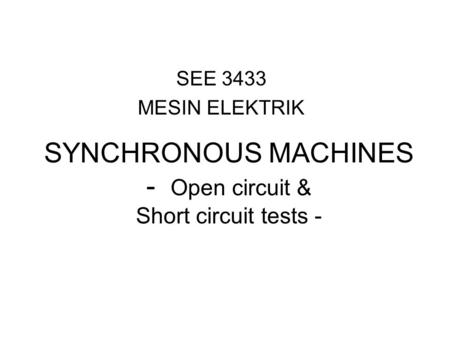 transformer open and short circuit test pdf