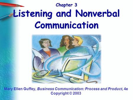 Chapter 3 Listening and Nonverbal Communication