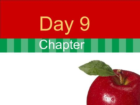 Chapter Day 9. © 2007 Pearson Addison-Wesley. All rights reserved4-2 Agenda Day 8 Questions from last Class?? Problem set 2 posted  10 programs from.