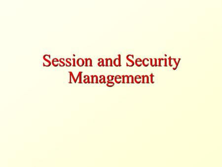 Session and Security Management. HTTP Cookies Cookies Cookies are a general mechanism that server-side applications can use to both store and retrieve.