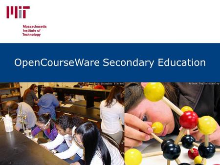 Unlocking Knowledge, Empowering Minds OpenCourseWare Secondary Education.