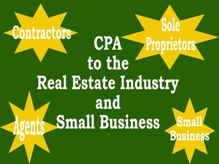 Tax Information for Real Estate Agents Presented by Walker Business Systems.
