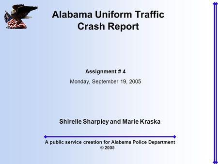 Alabama uniform traffic accident Report Manual