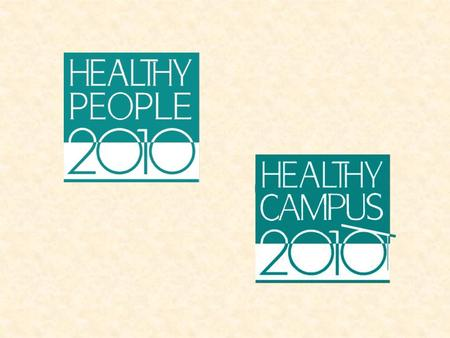 American College Health Association - Task Force on National Health Objectives2 What are Healthy People 2010 and Healthy Campus 2010: Making It Happen?