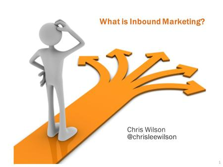 1 What is Inbound Marketing? Chris