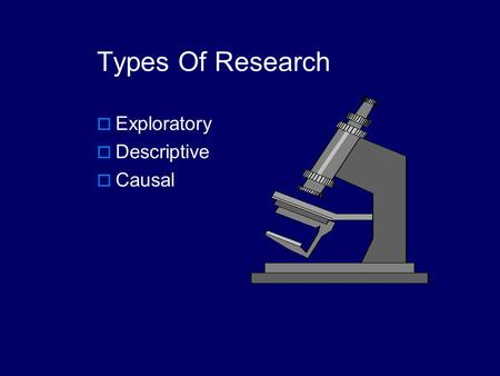 Types Of Research Exploratory Descriptive Causal.