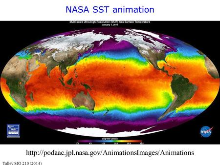 NASA SST animation Talley SIO 210 (2014)