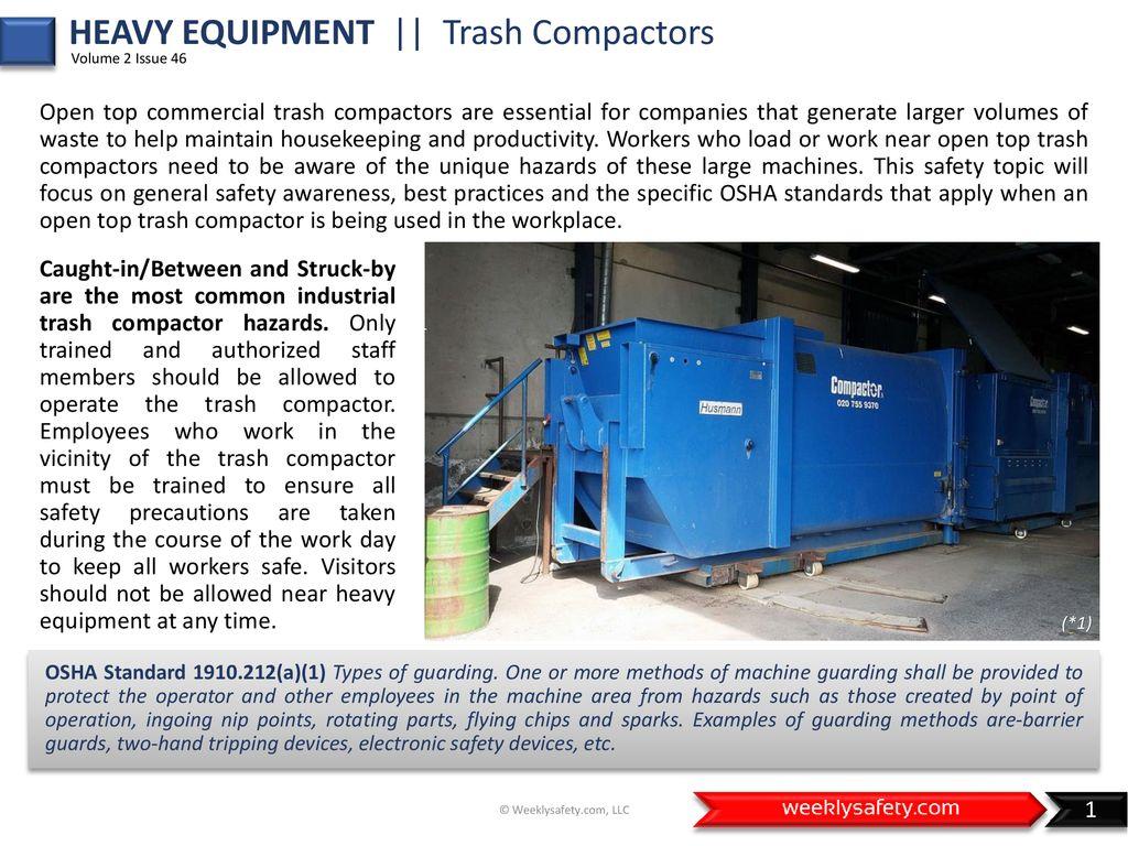 Heavy Equipment Trash Compactors Ppt Download