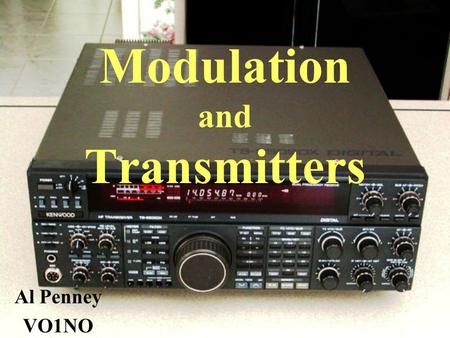 Modulation and Transmitters