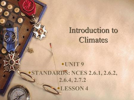 Introduction to Climates
