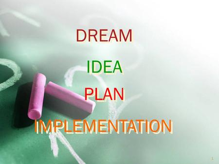 DREAM PLAN IDEA IMPLEMENTATION 1 2 3 Introduction to Image Processing Dr. Kourosh Kiani