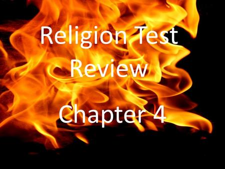 Religion Test Review Chapter 4. Who allowed Christians in the 4 th century to worship openly, hold office and build churches? Constantine.