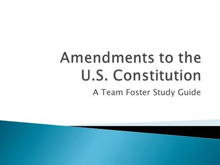 Amendments to the U.S. Constitution
