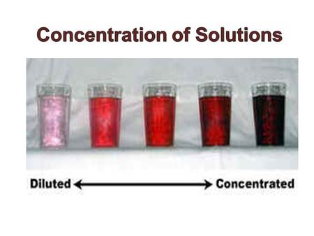 Solutions are homogeneous mixtures consisting of two or more components. The major component of a solution is known as the solvent and the minor component.