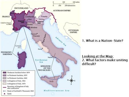 1. What is a Nation-State? Looking at the Map: