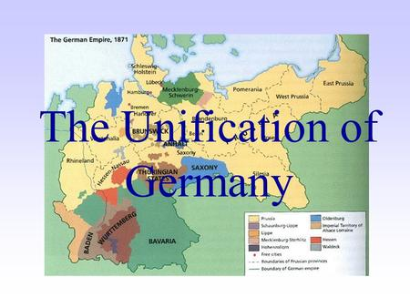 Map Of Germany Before Unification.The Unification Of Germany Ppt Video Online Download