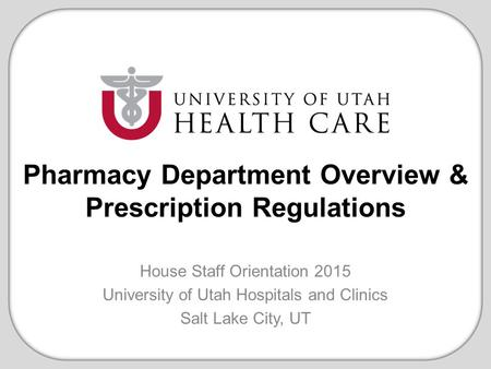 Pharmacy Department Overview & Prescription Regulations