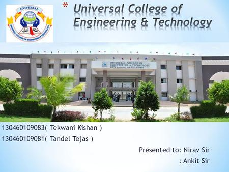 Universal College of Engineering & Technology