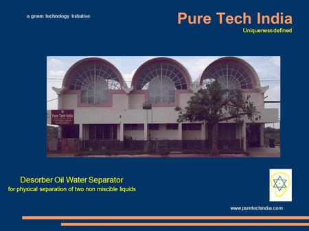Pure Tech India Desorber Oil Water Separator