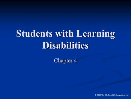 Students with Learning Disabilities