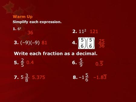 Write each fraction as a decimal.