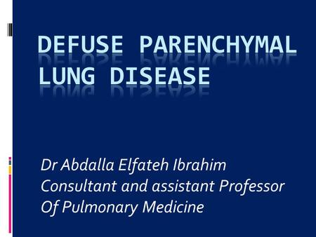 Defuse parenchymal lung disease