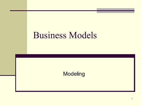 1 Business Models Modeling. 2 Why Model the Business Business modeling is a technique to help answer critical questions, such as: What do the workers.