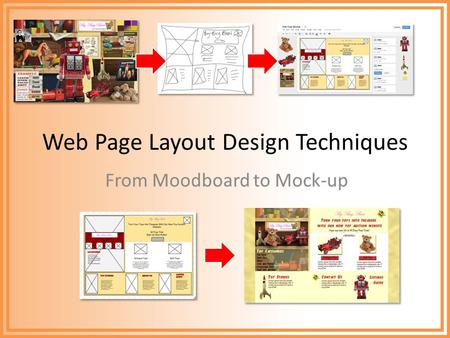 Web Page Layout Design Techniques From Moodboard to Mock-up.
