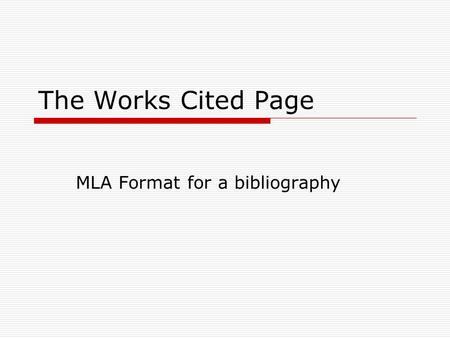 mla works cited page photography by john howard photodisc getty