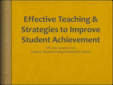 "Overview  The purpose of this slideshow is to provide information that is provided in the ""Teaching for Student Achievement-2003 Guidebook"" in regards."
