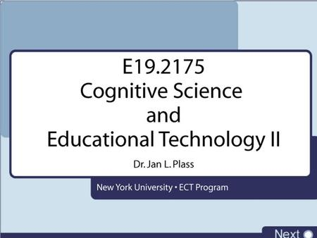 Cognitive Science Overview Design Activity Cognitive Apprenticeship Theory Cognitive Flexibility Theory.