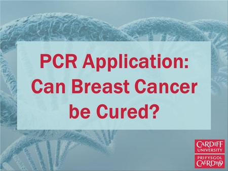 PCR Application: Can Breast Cancer be Cured?. Normal, Healthy Cells Cells can change or differentiate to become specialised according to the tissue that.
