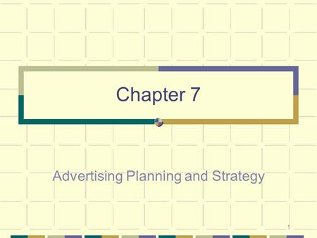 Advertising Planning and Strategy