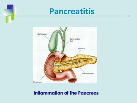 Inflammation of the Pancreas